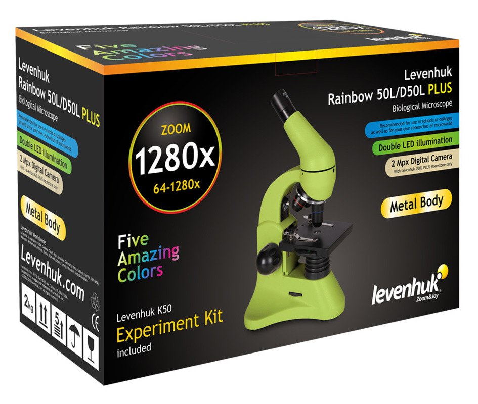 Mikroskop Levenhuk Rainbow 50L PLUS Lime